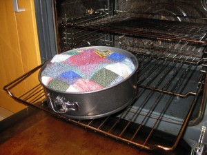 Please don't put yarn in the oven
