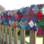 Blanket on the fence from the other end