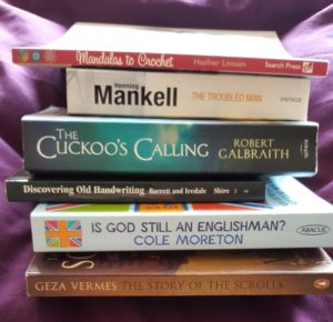Selection of books bought at Hay