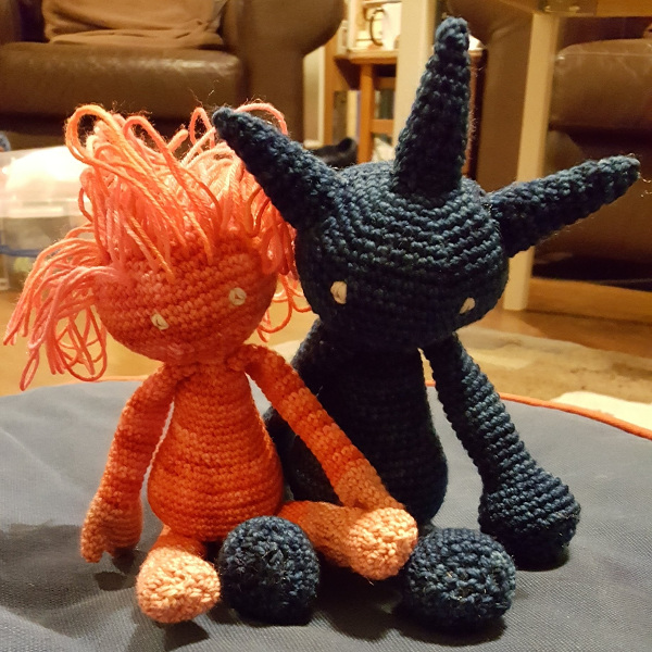 Two creatures of crochet